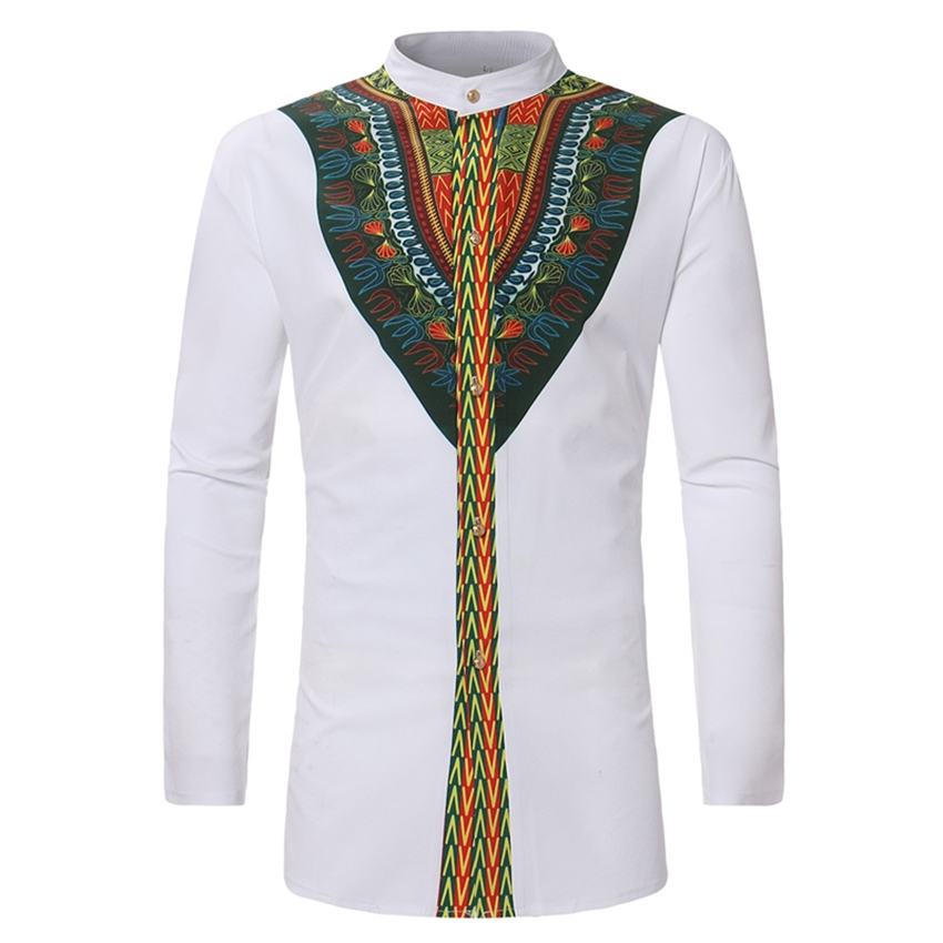 2019 African Print Rich Bazin Clothing for Men Fashion Dashiki Dresses Long Sleeve New Traditional Men's Africa Tops Skirt