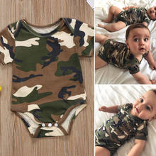 Camouflage Print Baby Clothes Boys&Girl Short Sleeve Baby Rompers Jumpsuit Casual Summer New Born Baby Clothes Outfits 0-24M(China)