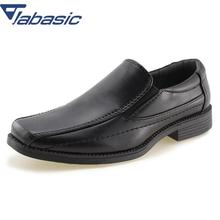 JABASIC Kids School Uniform Dress Shoes Slip-on Oxford Loafers Soft PU Leather Casual Shoes Boys Loafers Boys Shoes Child children kids boys leather shoes genuine leather shoes new black autumn boys school uniform dress shoes casual oxfords wide fit