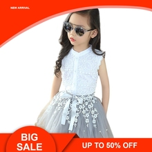 3 -11 Years Girls Clothes Children Tutu Skirt Sets Girls Boutique Outfits Two Piece Children Clothing Set Summer