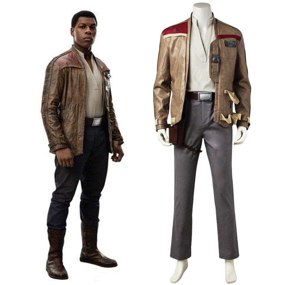 New Star Wars 8 The Last Jedi Finn Cosplay Costume Handmade