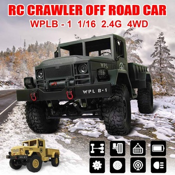 For Boy Children Kid Education RC Crawler Off Road Car WPL B-1 DIY Car Kit 1/16 2.4G 4WD Without Electronic Parts Metal Assemble