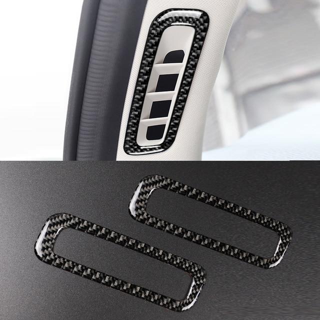Per Mazda CX 5 CX 5 2017 2018 2 pz/set In Fibra di Carbonio Interni Auto A Pilastro Aria Condizionata Air Vent presa Telaio di Copertura Sticker Trim