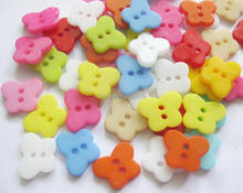 NBNOLN DIY craft buttons butterfly shape mix 150pcs plastic nylon sewing 11mm*14mm