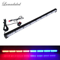 86cm Police led light emergency hazard strobe lights bar led car grille blinking warning lamp safety stroboscope amber red blue