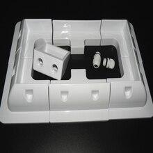 1 компл. Лот ABS панели солнечных батарей Монтажный кронштейн наборы белый цвет кабельный ввод Gand Идеальный 7 шт. один набор для Caravan Motorhome RV