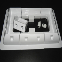 Комплект монтажных кронштейнов из АБС пластика для панели солнечных батарей, белый кабель для входа Gand, 7 шт., один комплект для дома на колесах, RV