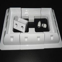 1 conjunto lote abs painel solar placa de montagem kits suporte cor branca cabo entrada gand ideal 7 pçs um conjunto para caravana motorhome rv
