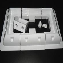 1 ensemble Lot ABS panneau solaire plaque support de montage Kits couleur blanche câble entrée Gand idéal 7 pièces un ensemble pour caravane camping car RV