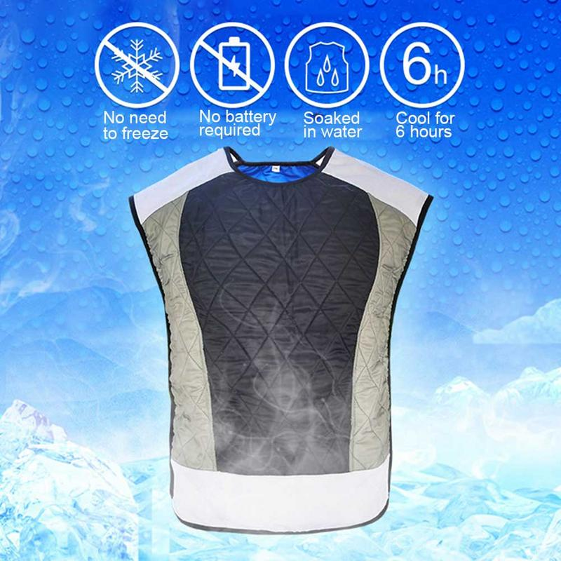Cooling Vest Motorcycle Bicycle Riding Vest Cooling Suit Water Evaporation Waistcoat Refrigeration Clothes for menCooling Vest Motorcycle Bicycle Riding Vest Cooling Suit Water Evaporation Waistcoat Refrigeration Clothes for men