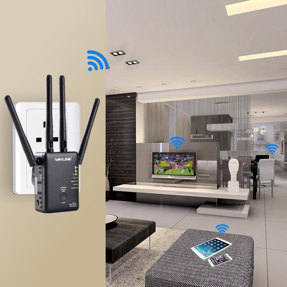 Wavlink AC1200 WIFI répéteur gamme Extender Mini routeur sans fil Wifi Booster Signal amplificateur double-bande 4 antennes externes - 6