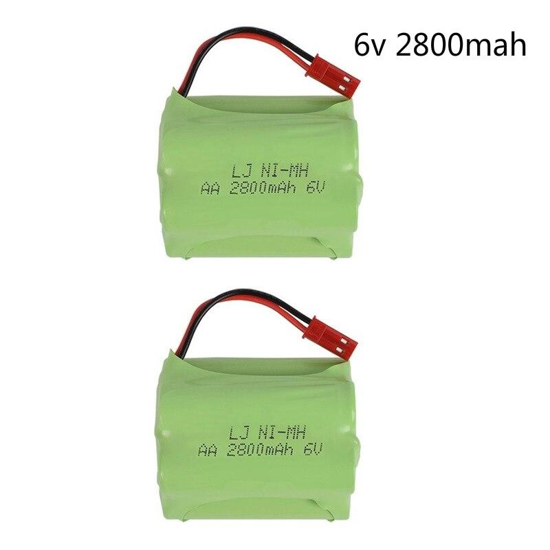 (T Model) 6v 2800mah NIMH Battery 6v Ni-MH Battery Pack For RC Toy Car Boat GUN TANK Truck Trains RC Toy Model Battery 2pcs