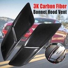 Baru Sepasang Mobil Kap Depan Ventilasi untuk Ford untuk Mustang 2015-2017  3 K Carbon Fiber 5432 Mobil asupan Udara Scoop Bonnet. f1fb32004c