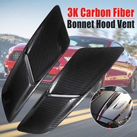 New A Pair Car Front Hood Vents For Ford For Mustang 2015 2017 3K Carbon Fiber 5432 Car Air Intake Scoop Bonnet Hood Vent