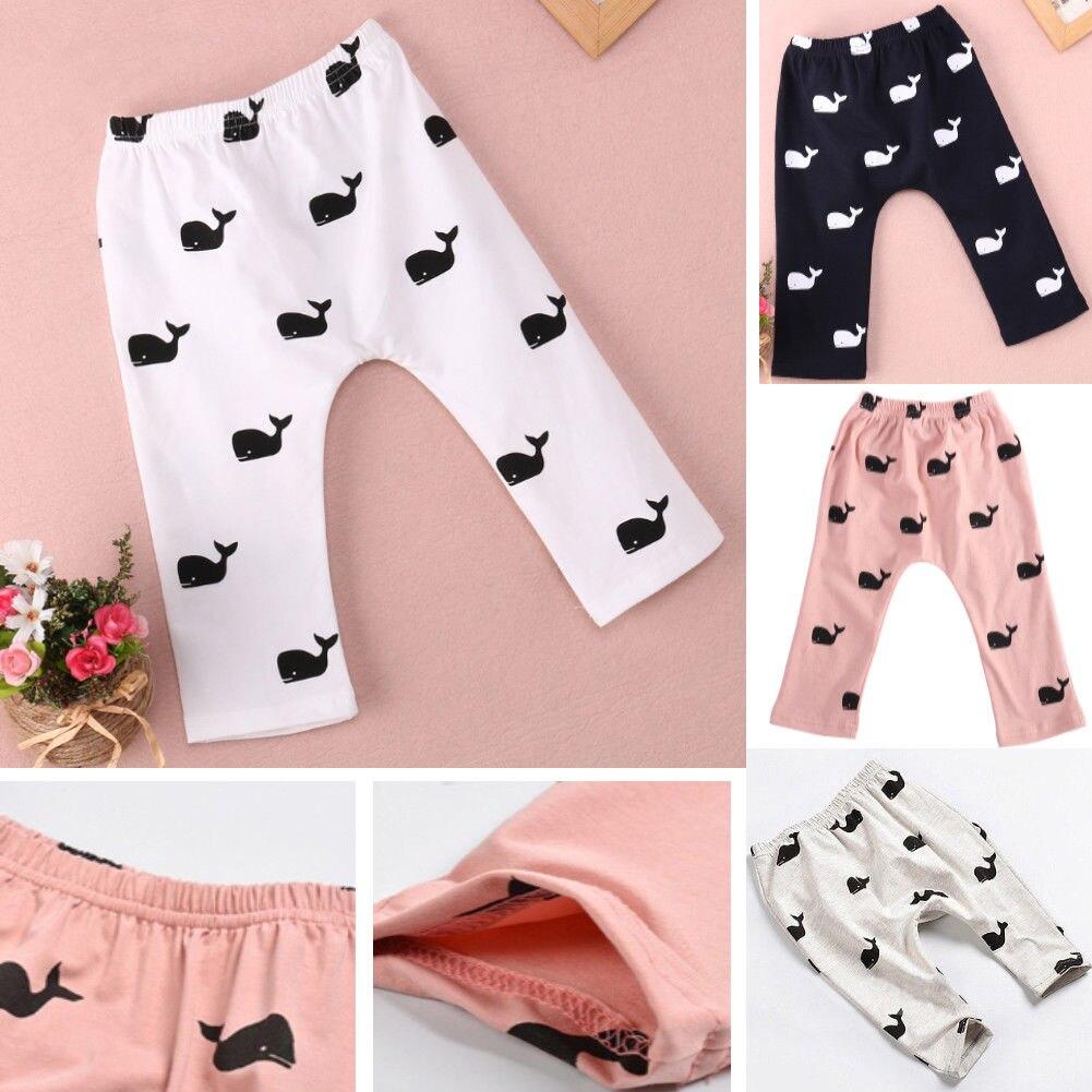 Hosen Honig Pudcoco 2019 Marke Neue Plus Größe Infant Baby Mädchen Junge Whale Printed Baumwolle Weiche Lange Hosen Legging Uns Die Neueste Mode