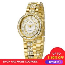 Брендовые часы из розового золота Роскошные Простые Модные женские повседневные часы из нержавеющей кварцевые наручные часы Бесплатная
