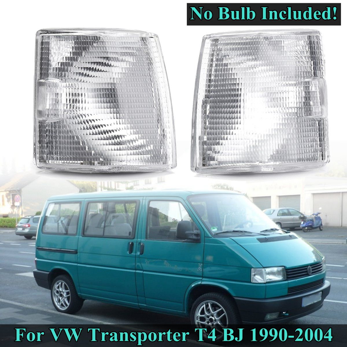 For <font><b>VW</b></font> Transporter <font><b>T4</b></font> BJ 1990 1991 1992 1993 1994 1995 1996~2004 1 Pair Fog <font><b>Light</b></font> Cover Corner <font><b>Lights</b></font> Indicator Signal Lamp image