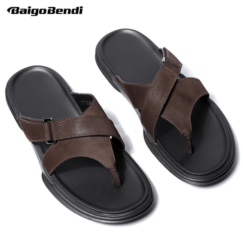 Summer Flip Flops Men Cool Slippers Summer Beach Shoes T-tied Man Slides Holiday Shoes
