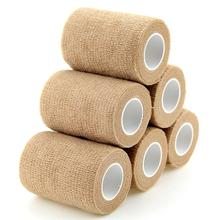 6 Rolls Self Adhesive Bandage Waterproof Nonwoven Sports Tape Breathable Muscle Wraps Medical Health Care 7.5cm*4.5m New