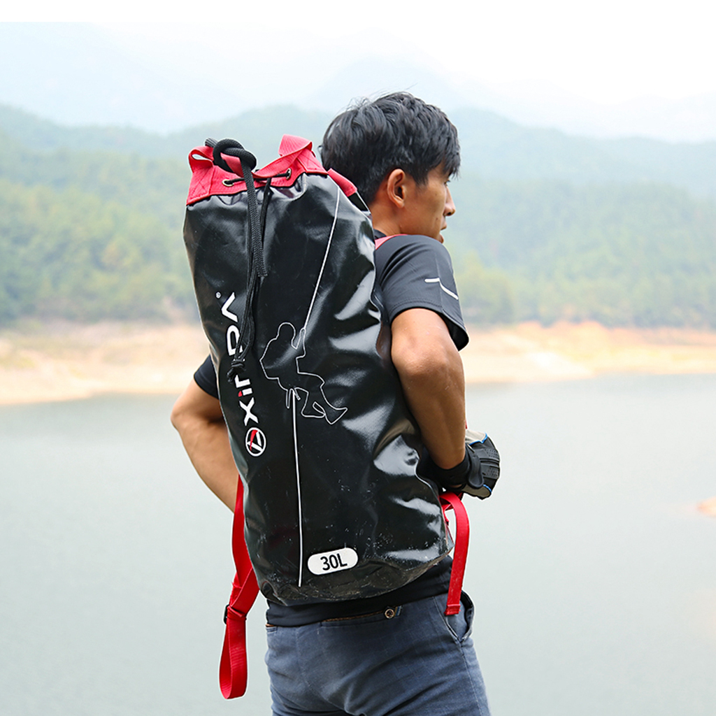 Rock Climbing Rope Bag Backpack Outdoor Mountaineering Equipment Holder Organizer Pouch