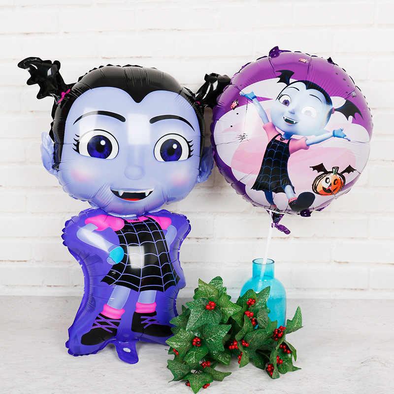 1pcs/lot 3D Vampire Girl Witch Helium Foil Balloons Children Toys Birthday Christmas Party Vampirina Cartoon Balloon Decoration