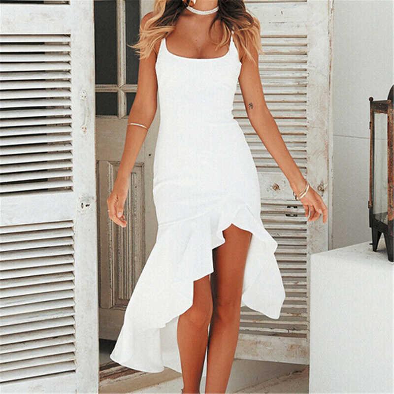 Женские платья летнее элегантное платье женский сарафан стиль бохо, макси платья с рюшами для вечеринок женские вечерние Клубные платья Сексуальное Женское Платье