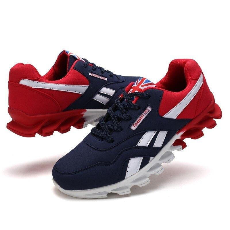 Tênis não-escorregar Amortecimento Sapatos tamanho Grande sapatos casuais Moda Confortável Barato Homens Colorblock Sapatos masculinos