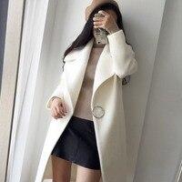 Women's Winter Blend Coat Ladies Wool and Blends Overcoats 2018 Fashion Blend Coat Autumn Winter Long Coats Woman Clothes