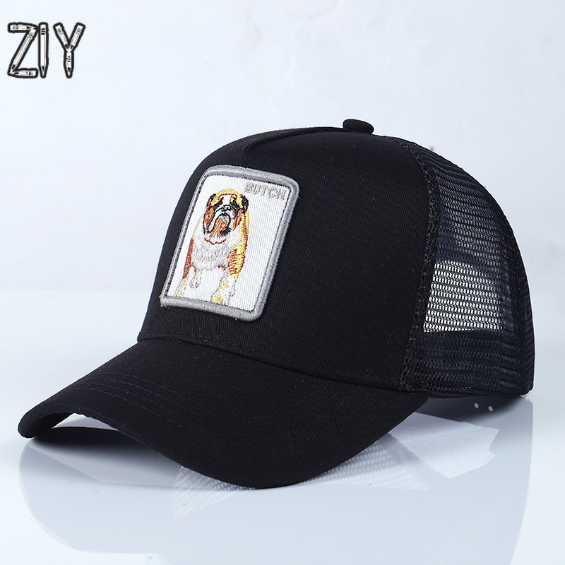 2018 Embroidery Butch   Baseball     Cap   Animals Snapback Bone Casual Cotton Mesh Summer Breathable   Cap   Trucker Hip Hip Streetwear   Cap
