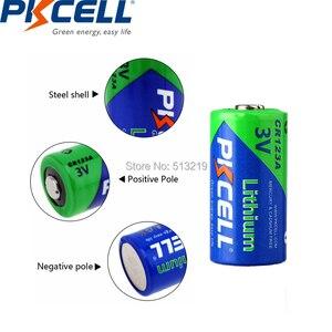 Image 4 - Bateria cr123a cr123 cr 123 cr17335 123a cr17345 (cr17335) 16340 3v baterias de lítio de 5 pces pkcell 2/3a para carmera