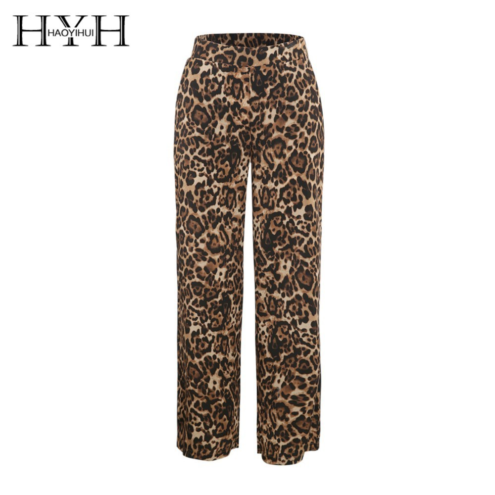 HYH HAOYIHUI Simple Wild Sexy Animal Loose Type Printed Broad-legged Pants Price $23.00