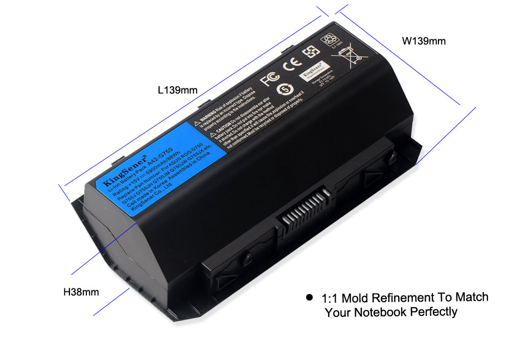 Image 4 - KingSener 15V 88WH Korea Cell A42 G750 Battery for ASUS ROG G750 G750J G750JH G750JM G750JS G750JW G750JX G750JZ Series 5900mAh-in Laptop Batteries from Computer & Office