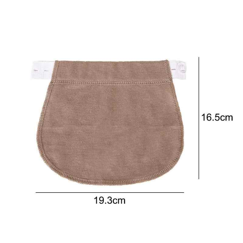 Maternity Pregnancy Waistband Belt Adjustable Elastic Pants Extended Button Pants Extended Button for Pregnant Women