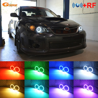For Subaru Impreza WRX STI 2008 2009 2010 2011 2012 2013 2014 RF Bluetooth Controller Multi Color RGB led angel eyes kit