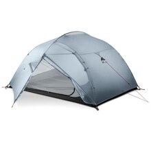 3F UL 기어 3 인 캠핑 텐트 15D 실리콘 210T 야외 초경량 하이킹 지상 시트와 방수