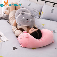 90cm Lovely Soft Animal Cartoon Pillow Cushion Cute Fat Dog Cat Totoro Penguin Pig Frog Plush Toy Stuffed kids Birthyday Gift