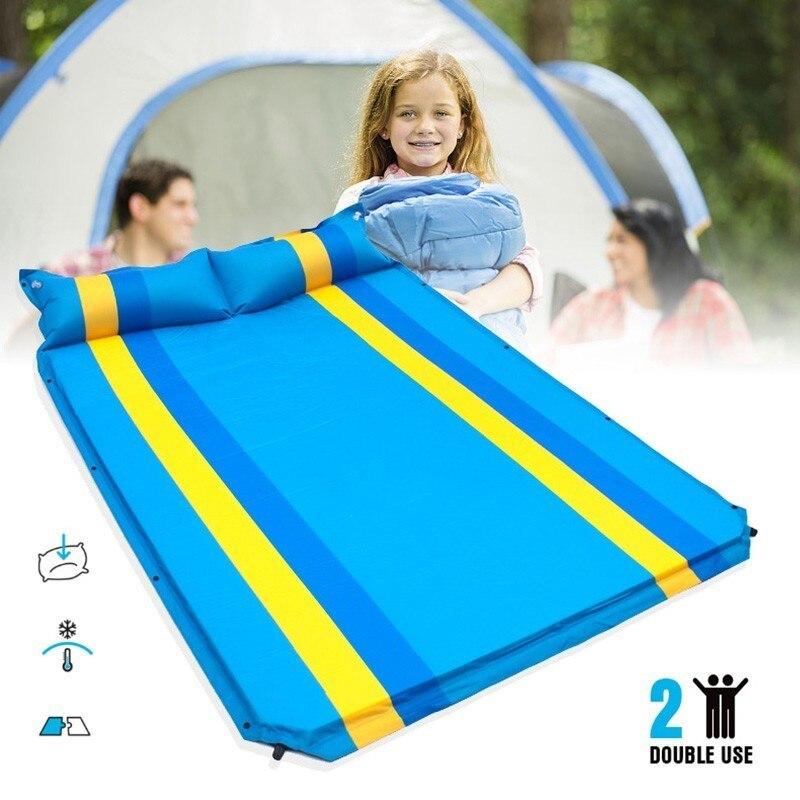 Camping tapis gonflable tente extérieure matelas pliant anti-déflagrant Camping matelas pour famille joue activités Double personne