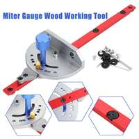 1Pcs Miter Gauge Wood Working Tool For Bandsaw Table Saw Router Angle Miter Gauge Guide Fence Woodworking Machinery Parts