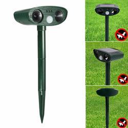 Animal Repeller Solar Power Ultrasonic PIR Sensor Yard Cat Dog Deterrent Scare Eco-friendly Solar Garden Pest Animal Repeller