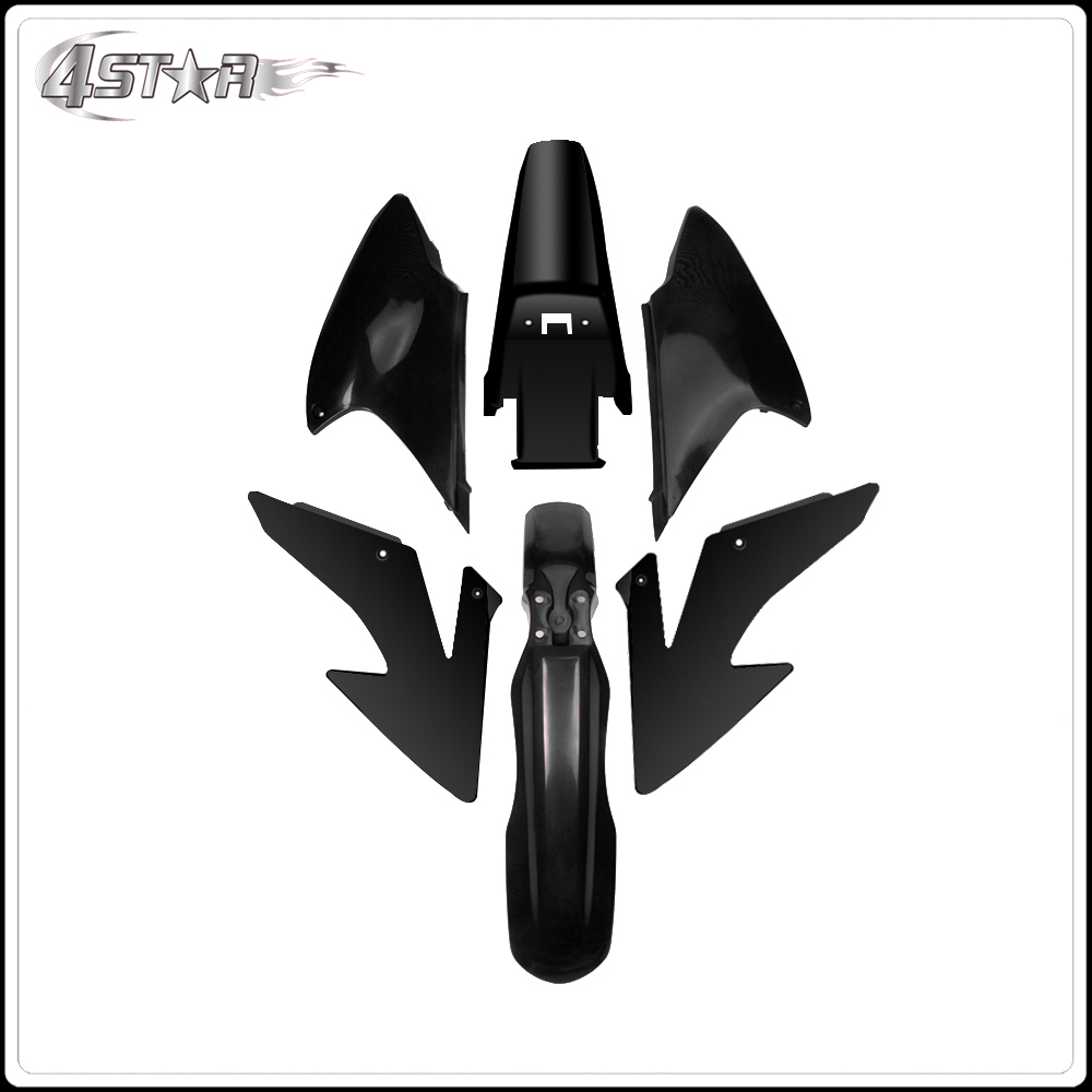 Motorcycle Front and Rear Fender Mud Slip Guard Side Number Plate For HONDA CRF230F CRF150 2008-2009 2012-2014 Dirt BikeMotorcycle Front and Rear Fender Mud Slip Guard Side Number Plate For HONDA CRF230F CRF150 2008-2009 2012-2014 Dirt Bike