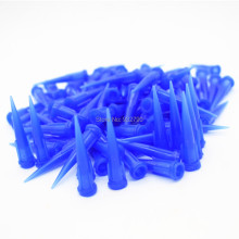 100pcs Blue Tapered Dispensing Tips 22G TT Smooth Flow Glue Liquid Dispenser Needle for Fluids Adhesives Pastes Gels Silicones