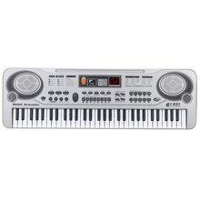 61-клавишная клавиатура фортепиано светодиодный инструмент клавиатуры 21-дюймового музыкального образования вкладыш двухрядного электронного фортепиано детей начинающих Elec