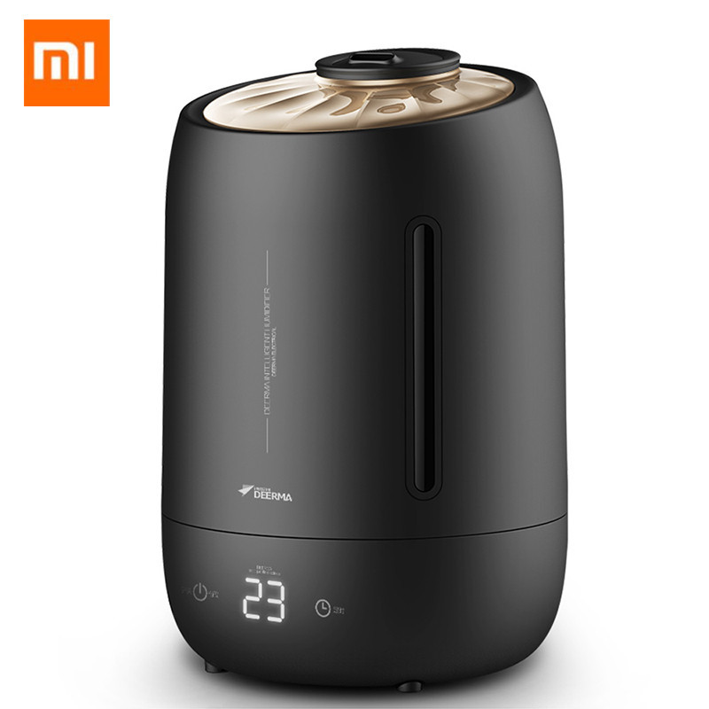 Xiaomi Deerma Humidifiers 5l Large Mute Ultrasound Capacity Sterilization Humidifier Air Aroma Diffuser Purifier Mist Maker Humidifiers Small Air Conditioning Appliances