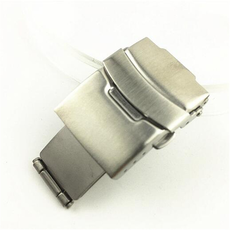 16mm 18mm 20mm 22mm 24mm 26mm Stainless Steel Watch Strap Butterfly Clasp Buckle Double Press Button Clasp Buckle