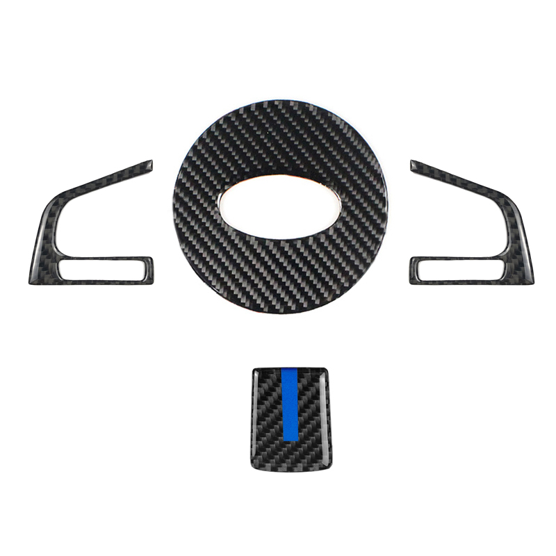 For Subaru Forester 2016 2017 2018 Carbon Fiber Steering Wheel Switch Button Cover-in Interior Mouldings from Automobiles & Motorcycles