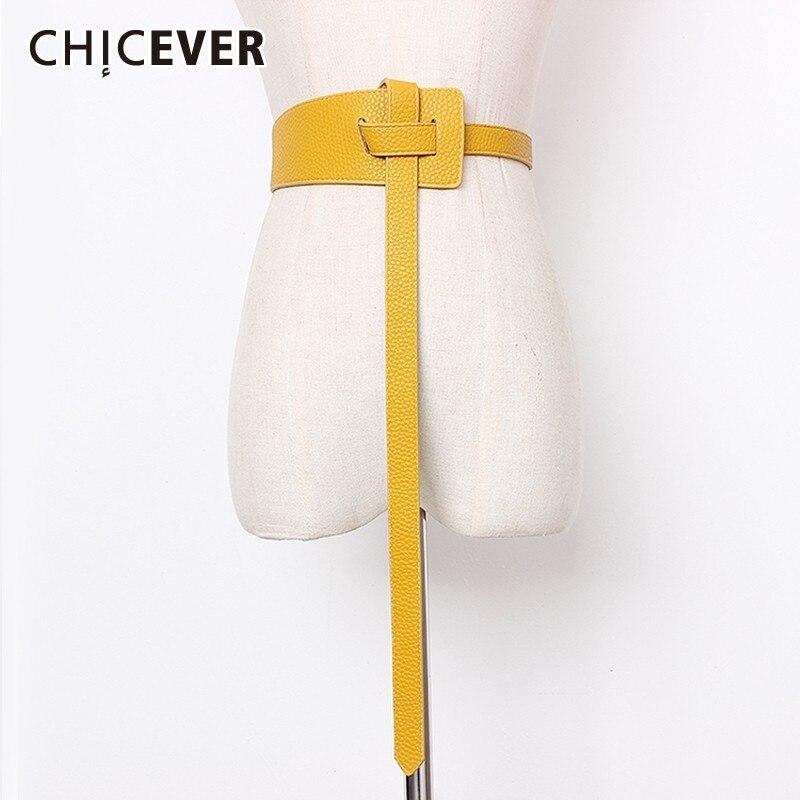 CHICEVER Summer Vintage Solid Perforation Buckle Irregular Belt For Women Crossing Female Belts 2020 Fashion Tide