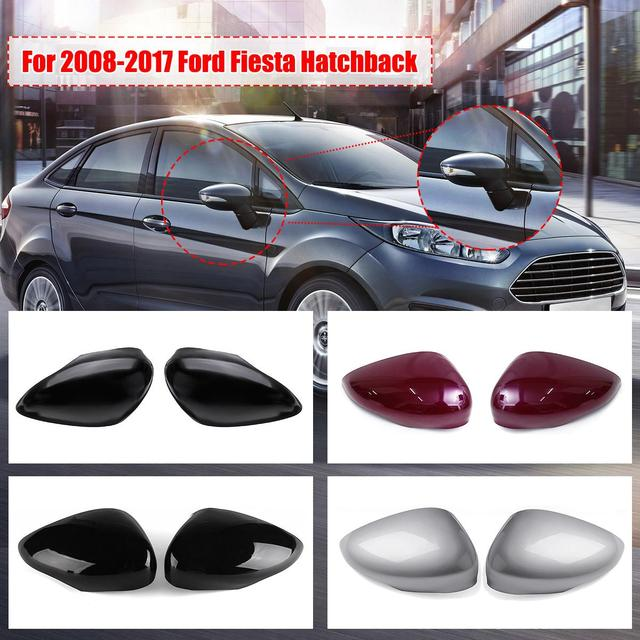 4 Colors Car Rearview Mirror Cover Trim Case Left Right Side Wing For Ford Forfiesta Mk7