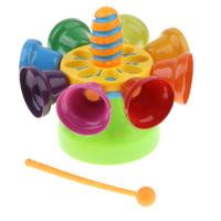 Bell Rotation Drum Musical Toy Sensory Development Hand eye Coordination Educational Toys Birthday Gift for Children Kids