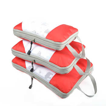 QIUYIN Travel Accessories 3PCs/Set Travel Bag For Clothes Functional Luggage Organizer High Capacity Mesh Packing Cubes