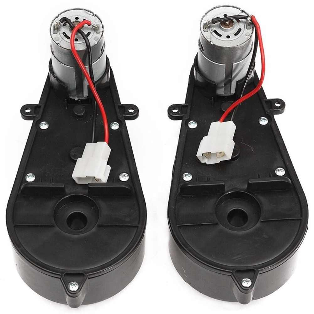 SHGO HOT-2 Pcs 550 Universal Children Electric Car Gearbox With Motor, 12Vdc Motor With Gear Box, Kids Ride On Car Baby Car Pa